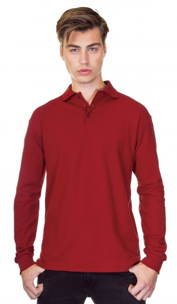 Classic Long Sleeve Cotton Pique Polo Shirt