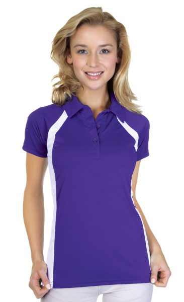 Ladies Performance Interlock Colour Block Polo Shirt