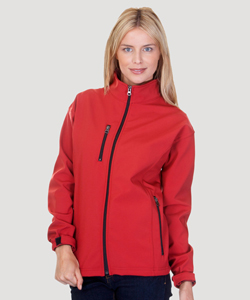 Ladies 3 Layer Fleece Bonded Soft Shell Jacket