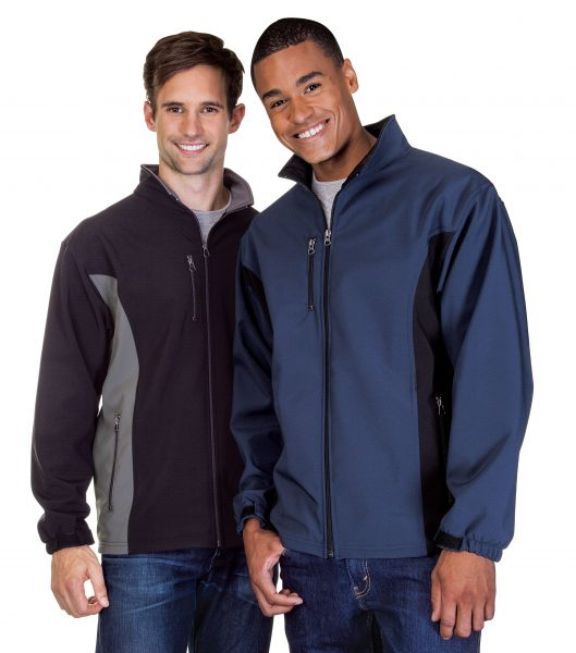 Mens Contrast 3 Layer Fleece Bonded Soft Shell Jackets