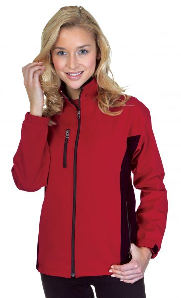 Ladies Contrast 3 Layer Fleece Bonded Soft Shell Jackets