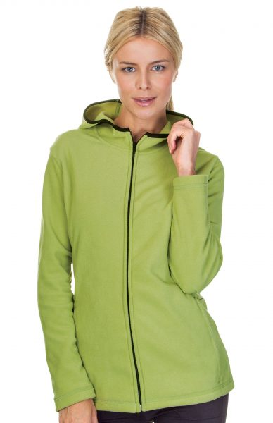 Ladies Microfleece Hooded Jackets