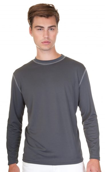 Mens Performance Contrast Stitch Long Sleeve T-shirt