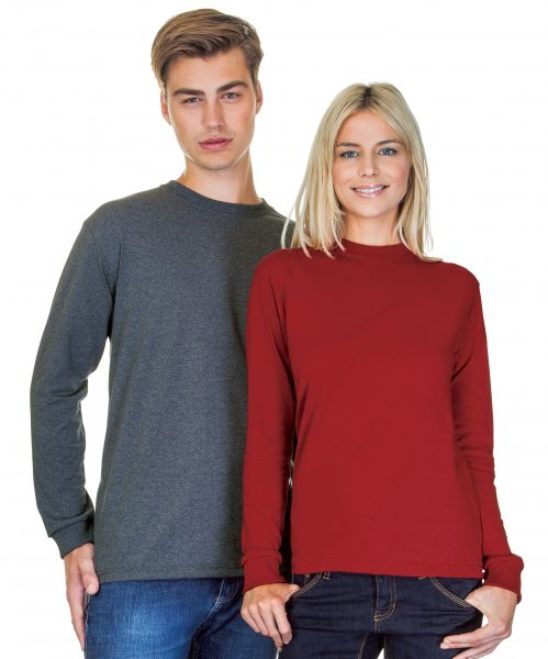 Classic Fit Heavyweight Cotton Long Sleeve T-Shirt