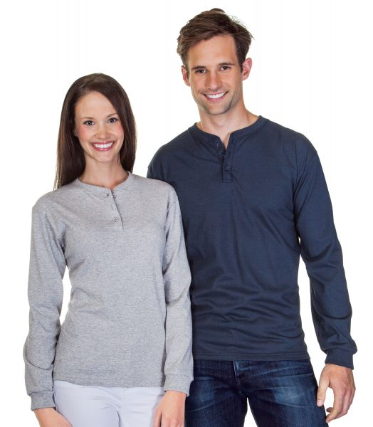 Henley Cotton Long Sleeve T-Shirt