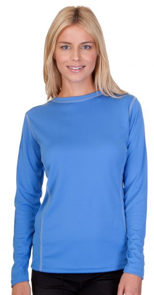 Ladies Performance Contrast Stitch Long Sleeve T-Shirt