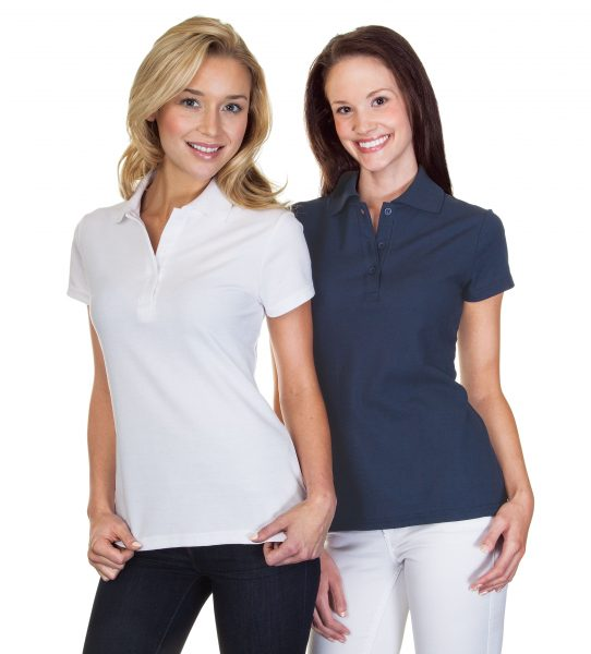 Ladies Cotton Pique Polo Shirt