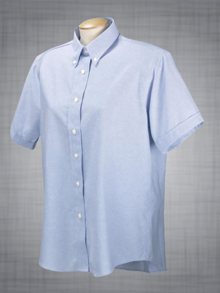 Ladies Short Sleeve Classic Oxford Dress