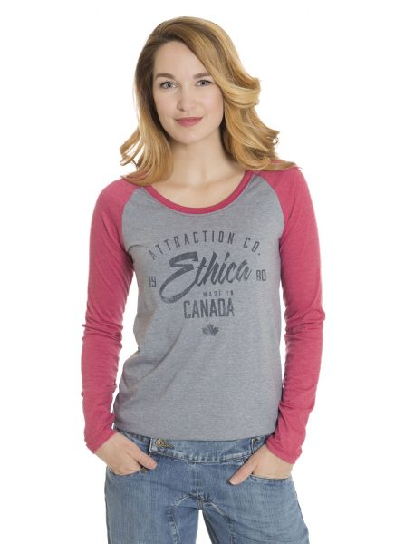 Ladies Raglan Long Sleeve T-Shirt (Ethica)