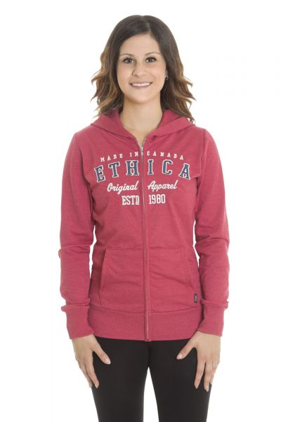 Ladies Hoodie Full Zip Sweater (Ethica)