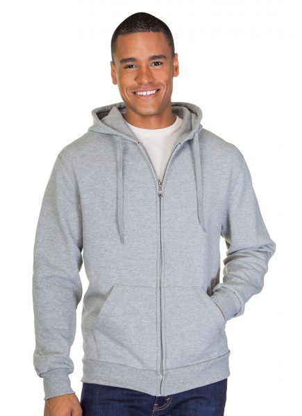 Mens Full Zip Pre Washed Hoodie Sweatshirt