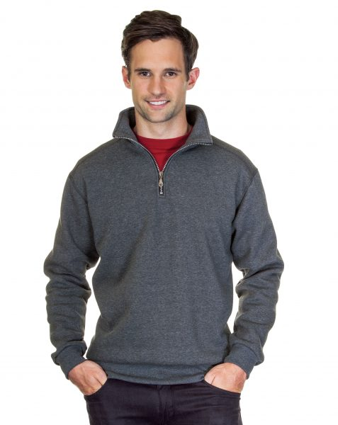 Mens Quarter Zip Pre Washed Sweatshirt